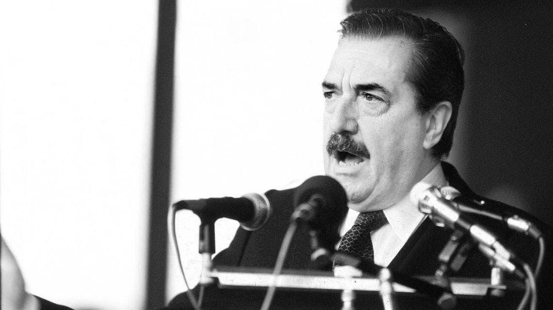 Fotografía del presidente radical, Raúl Alfonsín.