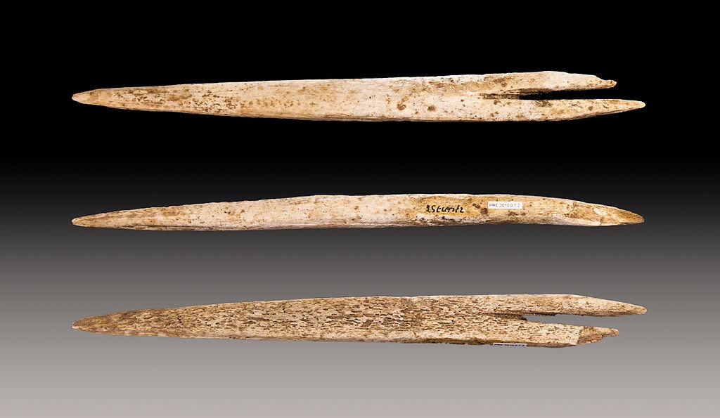 Azagaya prehistórica de base hendida