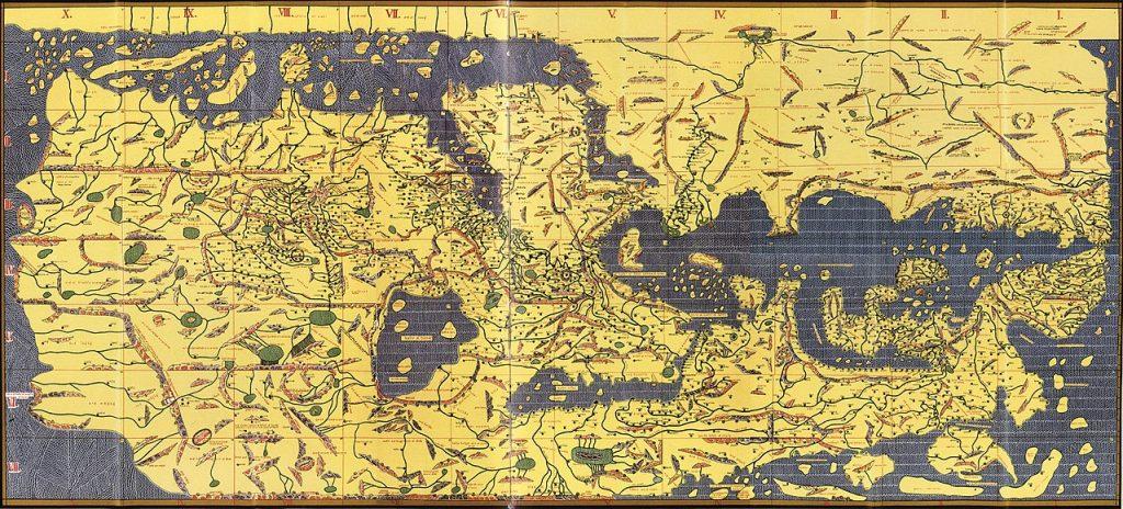 Tabla Rogeriana. Mapa del siglo XII