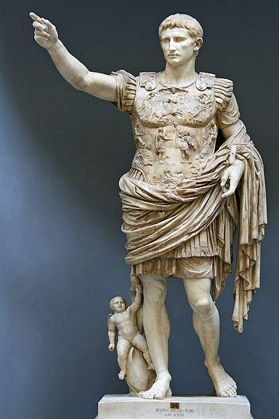 Estatua de Augusto, el primer emperador romano.