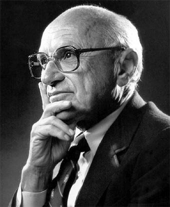 fotografía de Milton Friedman