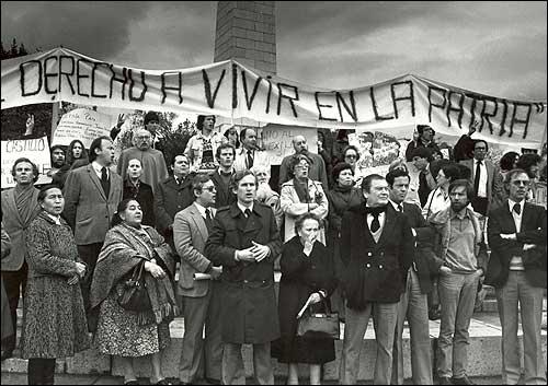 protesta contra la dictadura 1985