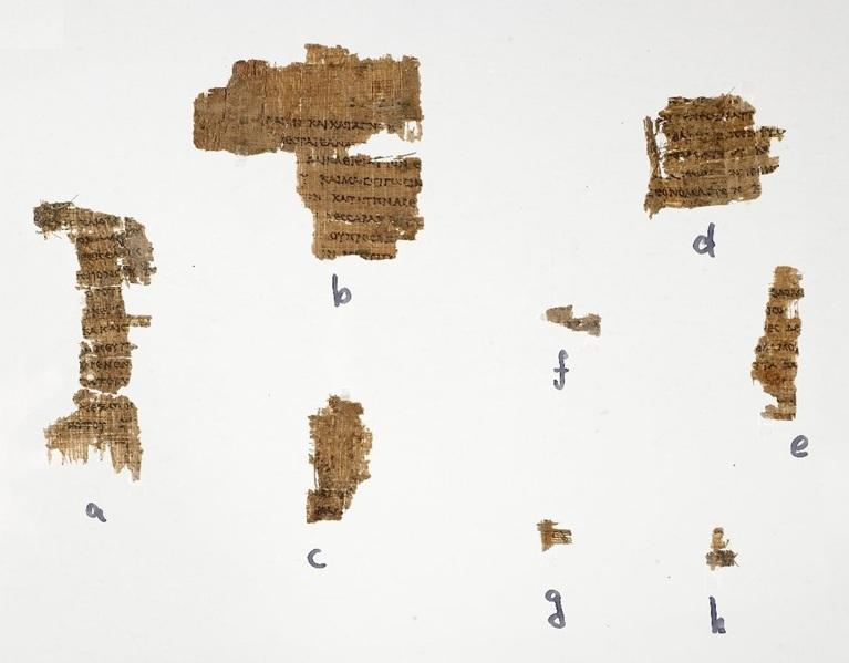 Fotografía del Papiro Rylands 458.