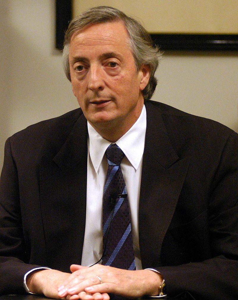 Fotografía del presidente de la nación, Néstor Kirchner