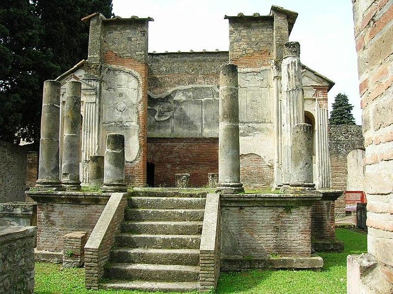 templo de Isis en Pompeya.