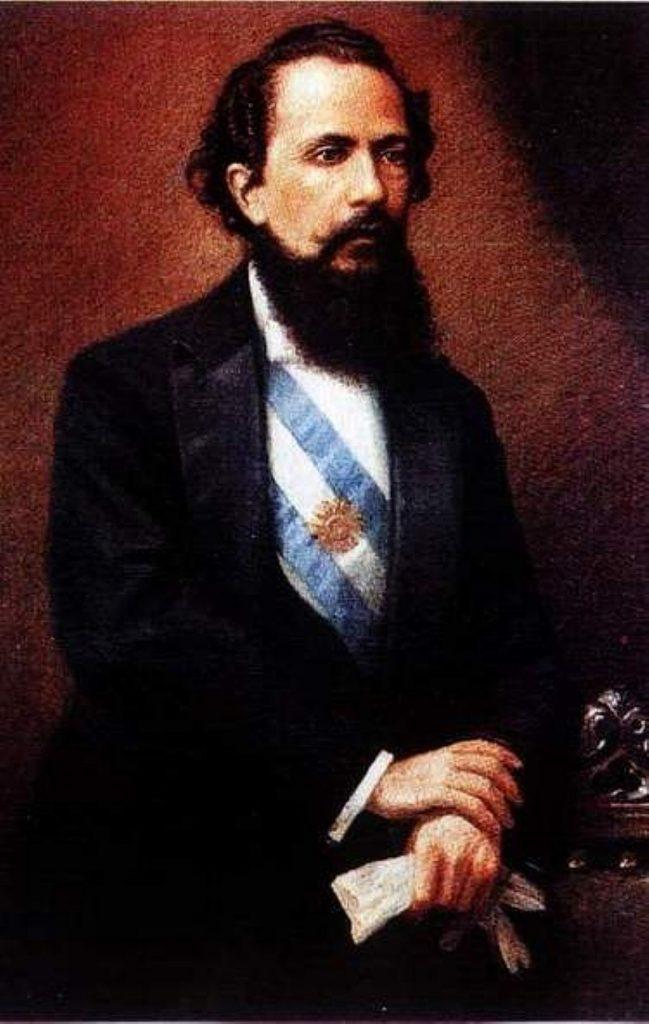 Retrato de Nicolás Avellaneda durante la presidencia.